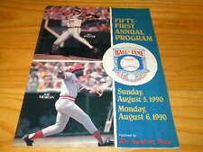 1990 Jim Palmer & Joe Morgan Baseball Hall of Fame Induction Program WD