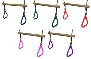 Swing Trapeze Bar for Kids Climbing Frames and Swing Sets - 5 Colours