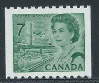 Canada #549(1) 1971 7 cent emerald green ELIZABETH II PERF 9.5 HB DEX MNH