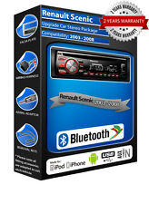 Renault Scenic DEH-4700BT car radio, USB CD MP3 AUX In Bluetooth kit