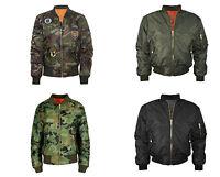 Donna MA1 Zip Bomber Khaki Giacca Vintage Mimetico Militare Motivi Taglie 8-26