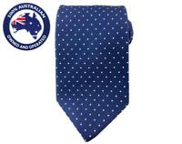 Men's Necktie Navy Blue White Polka 8.5CM Neck Tie Wedding Formal Groomsmen Men