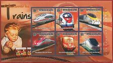 FRENCH GUINEA - ERROR, 2010 IMPERF SHEET: TRAINS, Modeling, Toys, Hobbies
