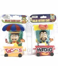 Solar Power Dancing Toys Taco And Hot Dog Stand Brand New In Blister Fast Ship