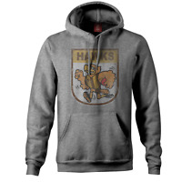 Hawthorn Hawks AFL Distressed 90's Retro Logo Pullover Hoody Sizes S-3XL!