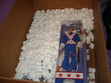 NEW 12'' EVEL KNIEVEL FIGURE BLUE JUMPSUIT AND MINI GRAPHIC T-SHIRT