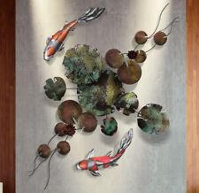 KOI Metal Wall Sculpture Modern contemporary home deco 3D Art masterpiece ❤️#1