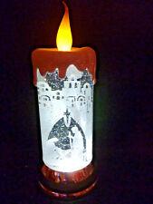 "Hallmark Bag 11"" TALL Nativity Scene Candle Snow Globe Motorized FREE Ship NEW"