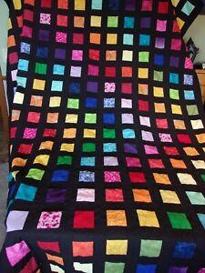 Homemade Rainbow Twin Quilt