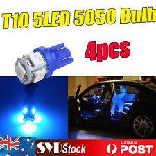 Blue 4 x 158 918 T10 5LED 5050 Wedge Bulb Led Light License Number Plate Lights