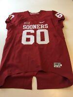 Game Worn Used Oklahoma Sooners OU Nike Football Jersey Size 48 #60