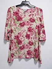 NEW ONLY 9 WOMENS PLUS TOP TUNIC BLOUSE 2X RUNS SMALL FITS LIKE L !