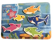 Baby Shark by Pinkfong Wooden Puzzle Plays Baby Shark New - C1