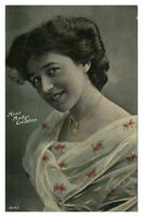 Antique printed postcard Miss Madge Crichton actress theatre stage