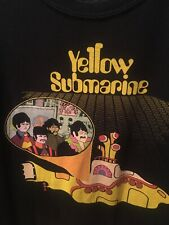 The Beatles Yellow Submarine Men's T Shirt Adult XL Black