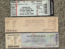 Rare Fleetwood Mac 3 Different Original Used Tickets; Mgm Grand Vegas,Collector