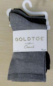 🔥Patterned multicolor 🌺 Gold Toe Women's 4-Pk. Designer Fashion Socks Ankle
