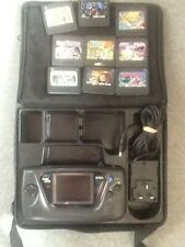Sega Game Gear Console in carry Case  with 9 games