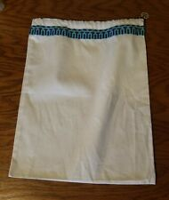 TORY BURCH DUST BAG STORAGE 12 X 15 HANDBAG Cover DRAWSTRING POUCH TEAL W MEDAL
