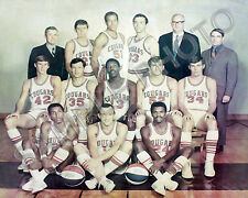 1969-1970 CAROLINA COUGARS ABA BASKETBALL TEAM 8X10 PHOTO