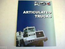 Terex Articulated Truck Literature