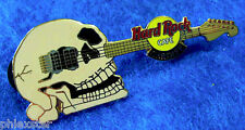 CARDIFF WALES *CC DEVILLE POISON* CUSTOM SKULL HEAD GUITAR Hard Rock Cafe PIN LE