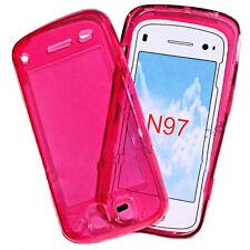 Silikon TPU Handy Cover Case Hülle Schale Kappe für NOKIA N97 in Transparent Rot