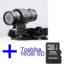 1080P HD Waterproof Helmet Camera Sports Outdoor Action Camera + TOSHIBA 16GB SD