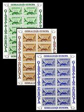 GIBRALTAR. European Telecommunication System. Three Miniature sheets. 1979