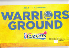 2012-13 GOLDEN STATE WARRIORS COMPLETE PLAYOFF TICKET SET BOOK 4 SEATS 16 GAMES