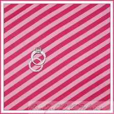 BonEful Fabric FQ Cotton Quilt Pink Paris STRIPE Baby Girl Calico Bright Small L