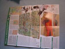YELLOWSTONE AND GRAND TETON MAP National Geographic February 1989