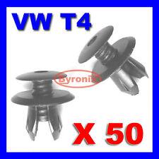 VW T4 T5 TRANSPORTER INTERIOR TRIM PANEL CLIPS X 50 BLACK PLASTIC