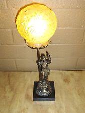 """Original 18"""" Signed Muller Fres Luneville 1900's Vintage Dome Lamp"""