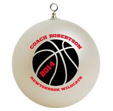 Personalized Custom Basketball Coach Christmas Ornament