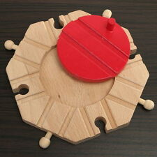 Chic Wooden Switch Cross Turntable Buffer Track Expansion Thomas Train Brio Toy