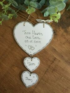 💕 Personalised Engagement Gift, Sign, Valentine gift, plaque, Wedding sign