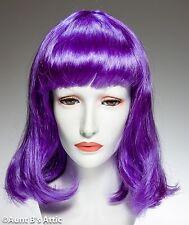 Wig Violet Shoulder Length Synthetic Hair Mardi Gras Cos Play Costume Wig