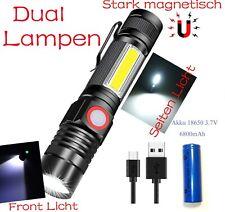 Taschenlampe  LED Super hell COB Arbeitsleuchte USB Aufladbar,Wetterfest, Magnet
