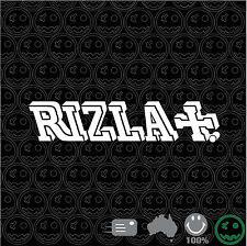RIZLA +  Sticker Decal 200mmH Macbook Pro Cav Van Bike Volkswagen Laptop Bike