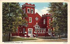 A56/ Glasgow Kentucky Ky Postcard c1930 Methodist Church Building
