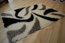 Tapis poil long ambato-shaggy creme-schwarz Y10 120x170cm