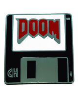 "Doom Floppy Disk (1"" Enamel Pin) pc gamer badge, video game hat pendant, RETRO"