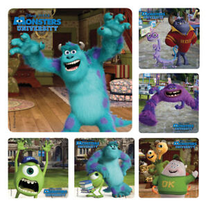Monsters Inc Stickers x 6  Birthday Party Supplies Favour Mike Sully Stickers