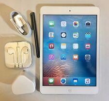 PERFECT Apple iPad Mini 32GB, Wi-Fi, 7.9in - White & Silver + EXTRAS