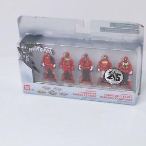 Power Rangers 25th Anniversary Ranger Keys 5-pack - Red Rangers Legendary Pack