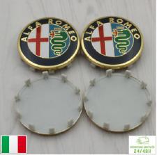 4 Tappi Coprimozzo per ALFA ROMEO Brera Giulietta 159 60mm cerchi in lega