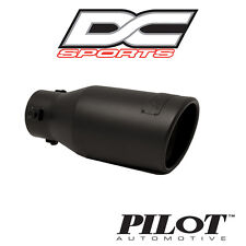 "DC Sports Bolt On Stealth Series Black Steel Exhaust Muffler Tip 3 75""x9""x 2 25"""