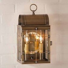 Toll House Brass Outdoor Wall Lantern in Weathered Brass - Exterior House Light