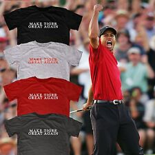 Make Tiger Great Again Custom fitted soft cotton Best Golf Themed tee Tshirt